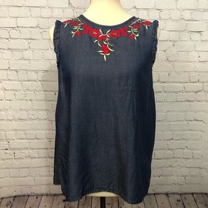 ModCloth Fervour Embroidered blouse